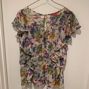 Sunny Leigh Floral Printed Blouse